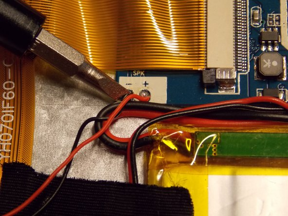 Solder your new speaker to the same contact points as before.