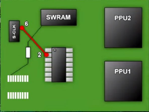 Pic 1: Sother a wire from Super CIC Pin 2 to S-CLK Pin 6