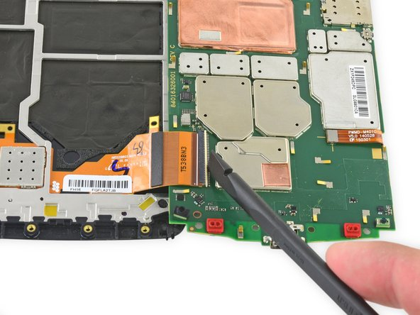 Pull the display ribbon cable free of the connector.