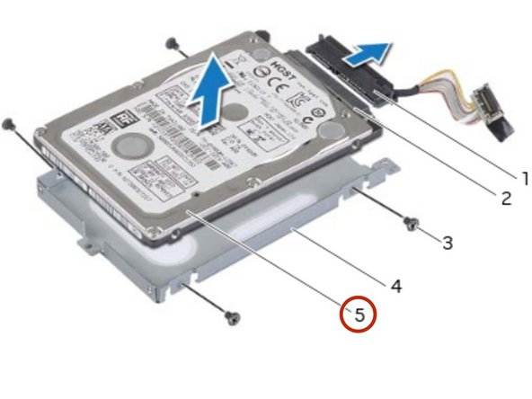 Slide the NEW primary hard-drive into the primary hard-drive bracket.