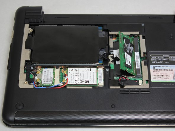 One side of the RAM will pop up to form a 40 degree angle with the body of the laptop.