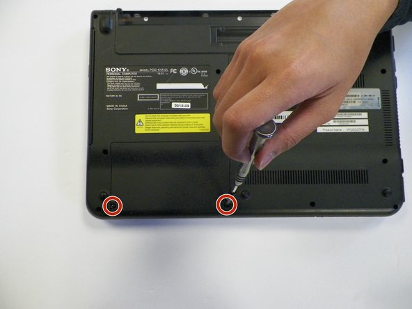 Using a Phillips #1 screwdriver, remove the 2 6.5mm screws around the hard drive case.