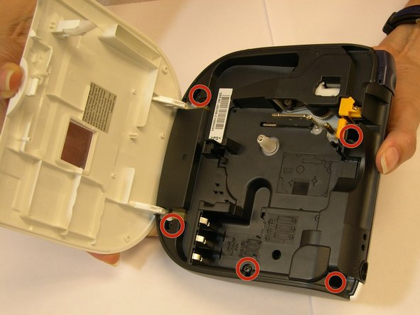 """Image 2/3: Once you get to that part, then is time to utilize some """"tools."""" A couple of Phillips  screwdrivers will be needed to remove the 5 screws that secure the plate and gain access to the LCD screen."""