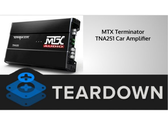Let's take a look at a few of the specs on the MTX Terminator TNA Car Amplifier! It's: