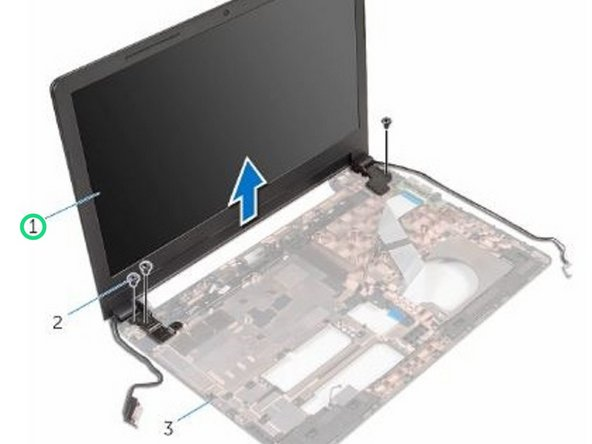 Carefully lift the display assembly off the computer base.