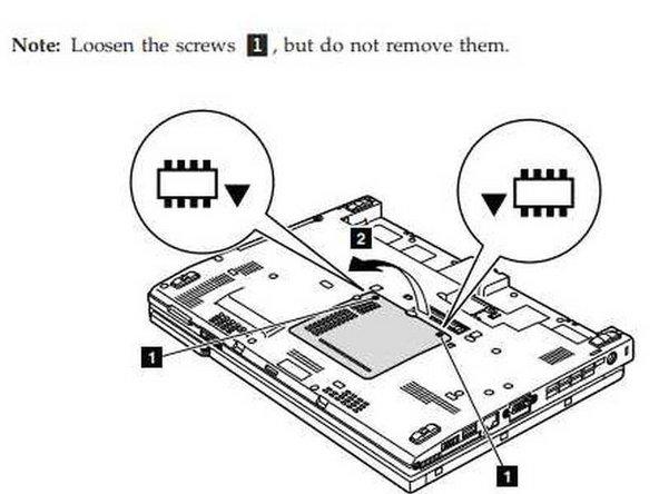 2. Entfernen Sie das Panel, um auf die Speichermodule zuzugreifen.