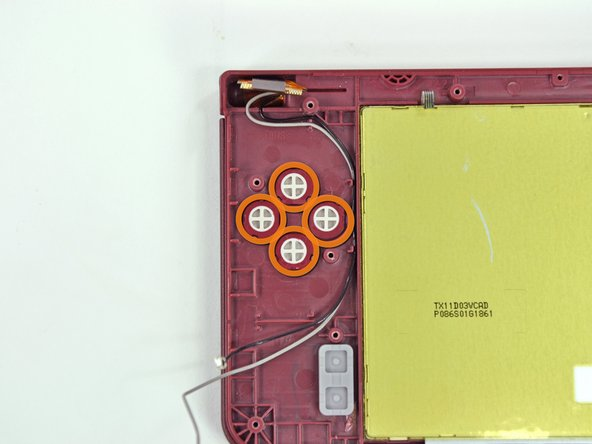 Remove all four buttons from the DSi XL.