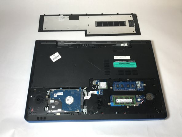 Now with the base cover removed, you may lift it off of the laptop and continue.
