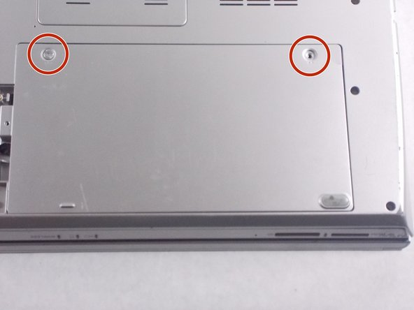 Flip the laptop over so that the battery on the underside of the device is revealed.