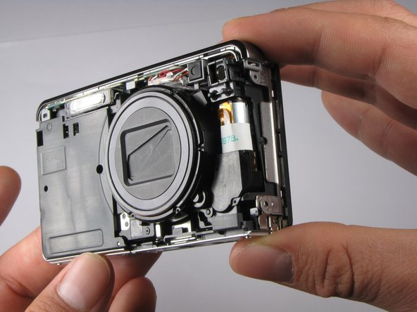 This is what your camera should look like now that you have removed the casing from all sides.