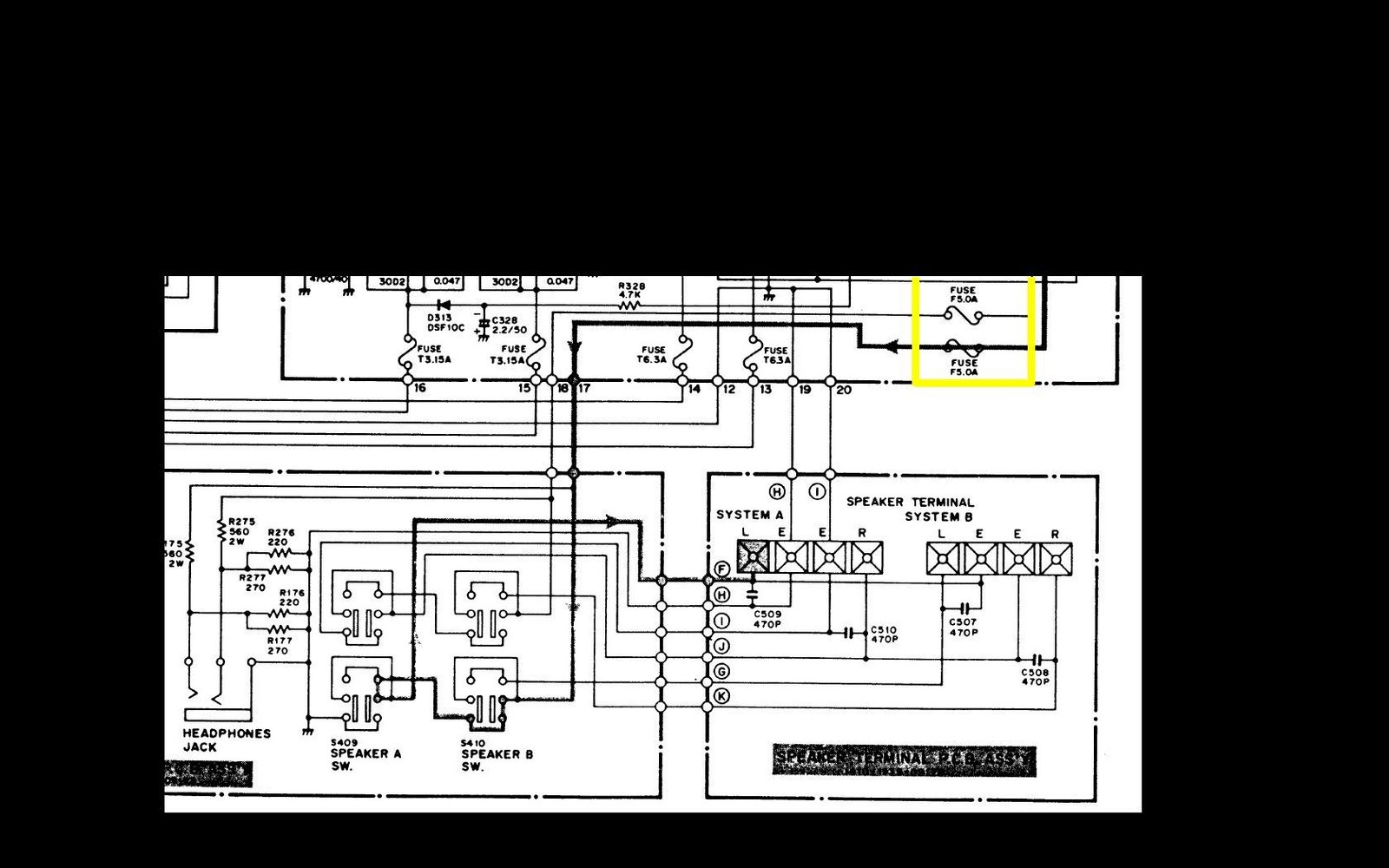 Solved Fuse Blows Instantly Upon Powering On Fisher Integrated Wiring Diagram Detached Sub Panel 100 Stereo Amplifier Ifixit