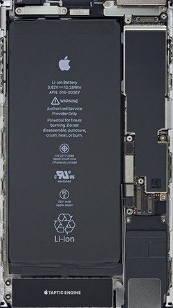 iPhone 8 Plus internals wallpaper