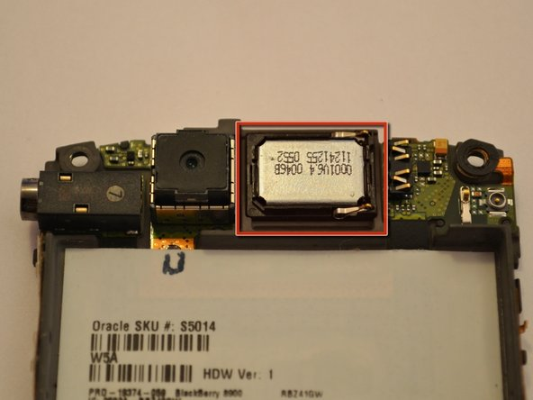 BlackBerry Curve 8900 Speaker Replacement