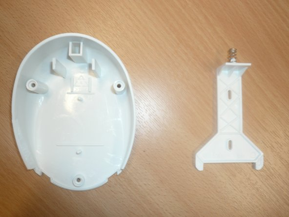Disassemble the lid and remove the plastic piece inside.