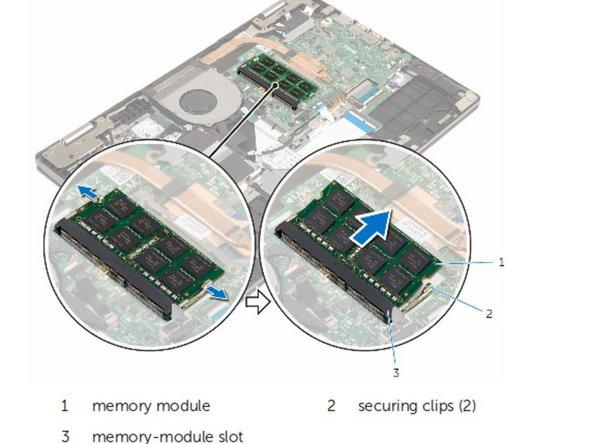 Retire el módulo de memoria de la ranura del módulo de memoria.
