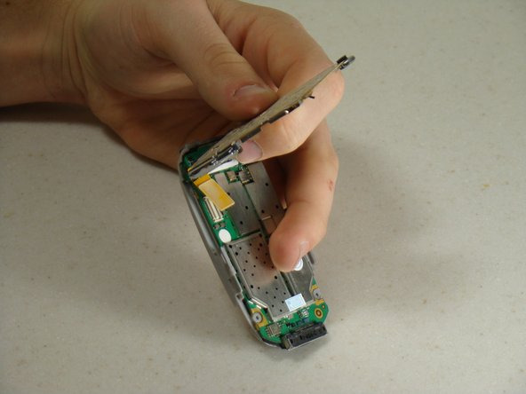 Separate the keypad from the circuit board.