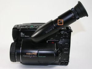 How to clean Sony CCD-TR81 viewfinder