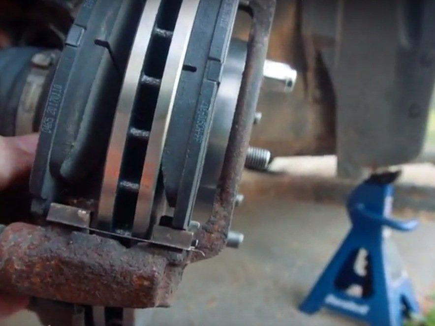 honda civic front brake pad  rotor replacement