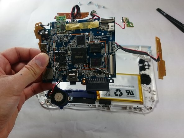 All components should be free from the device, and you can now completely remove the motherboard.