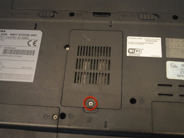 Remove the 4mm flat-head screw on the RAM cover with a Phillips 00 Screwdriver.