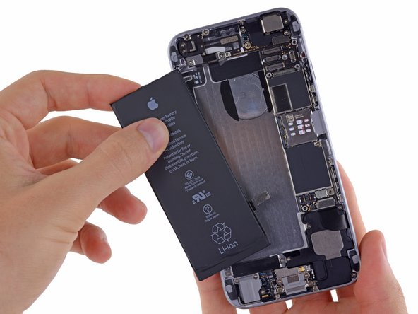 Remove the battery from the iPhone.