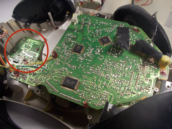 Image 1/1: The main circuit board can optionally be removed (covered in other guides0 if it is too difficult to access the board containing the function buttons. However, we do not recommend doing this if it is not necessary since removing the main board is difficult.