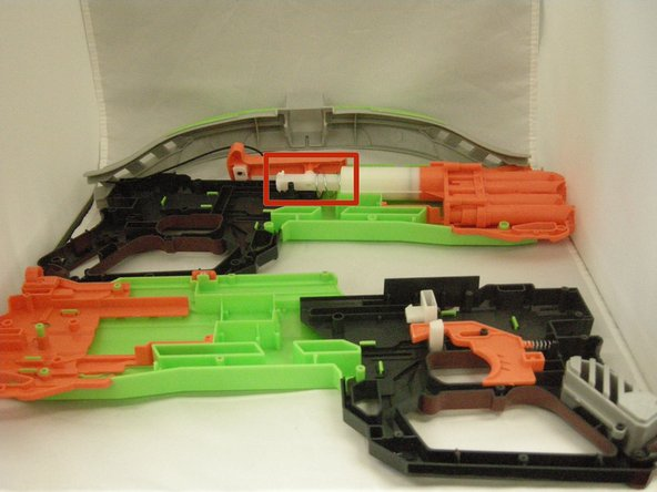 Separate each part of the Nerf crossbow.