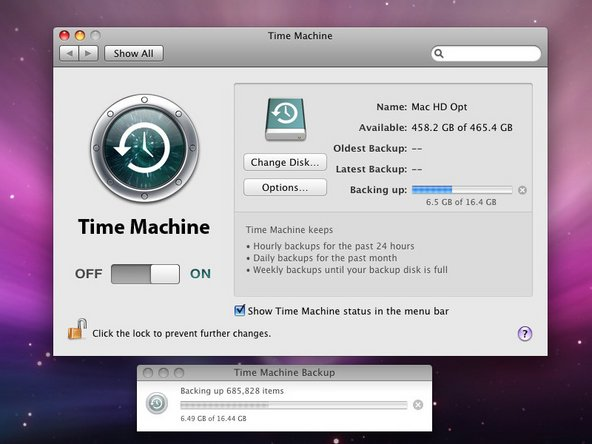 Time Machine just works!