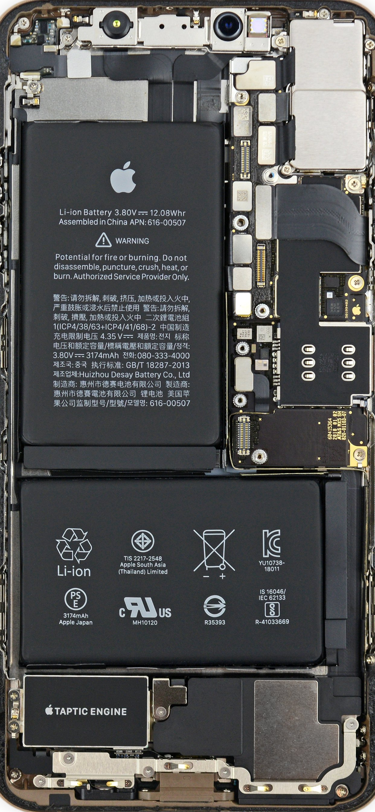 Double The IPhone XS Teardowns = Double The Wallpapers IFixit