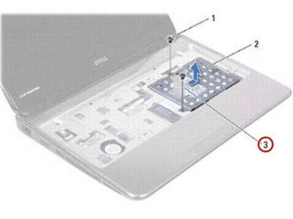 Using the pull-tab, slide the hard-drive assembly into the connector on the system board.