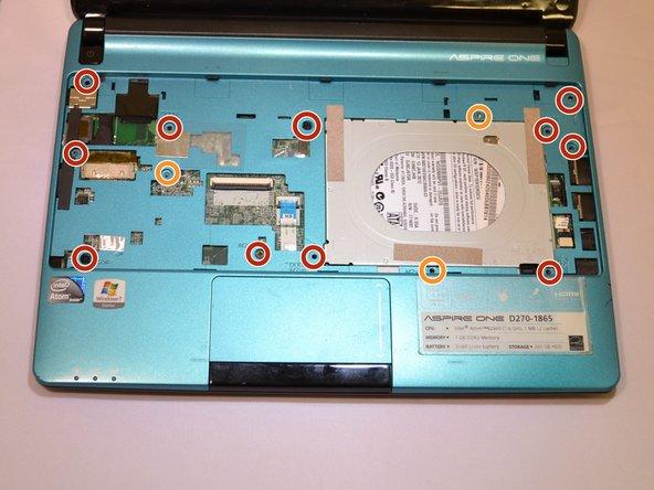 Using a Phillips #00 screwdriver, remove each screw: