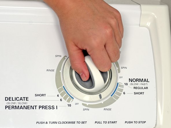 When the cycle is finished, run the washer on the rinse setting.