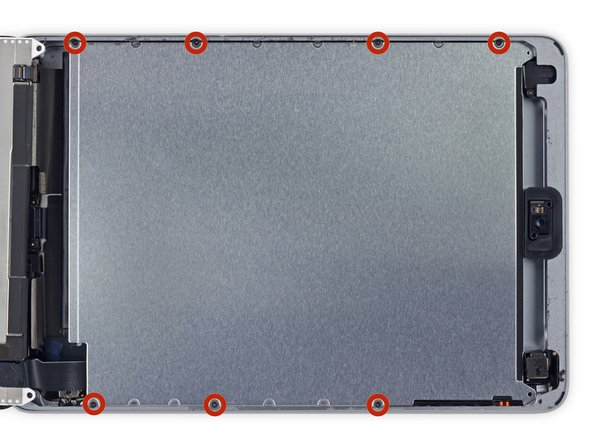 Remove the seven 1.8 mm Phillips #00 screws from the LCD shield plate.