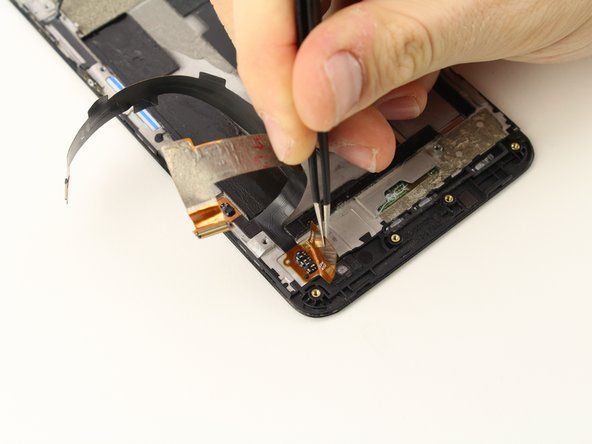 Peel the flex cables off where they are attached to the frame.