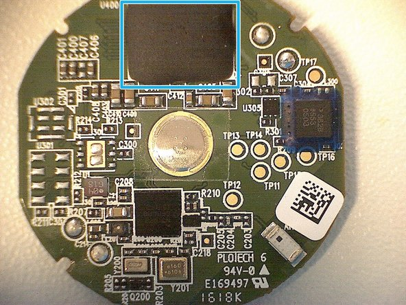 "The big black ""blob"" (glob-top) on the top of the PCB, is what I assume the display driver. The blob is actually a protective cover for the chip and the wire-bonds. This type of method is called ""chip-on-board"" (COB). Black epoxy resin is used as the chips can be sensitive to light, it's the same material used for the packaging of ICs."