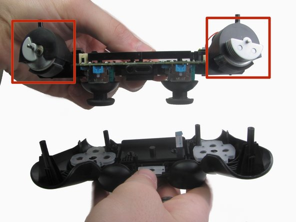 Image 2/2: When removing the motherboard assembly, try not to tilt the front cover upside down as the buttons and their covers may fall out.