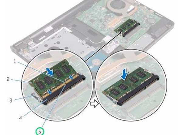 Align the notch on the NEW memory module with the tab on the memory-module slot.