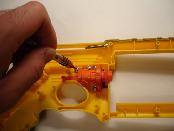 The fancy rotator for the barrel is next. I assume that were the gun to break, this would be the part that fails. It's the most complex part of the gun.