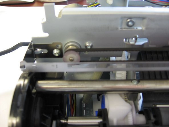 Now that you've removed all previous components, your printer should resemble the printer in the photograph.