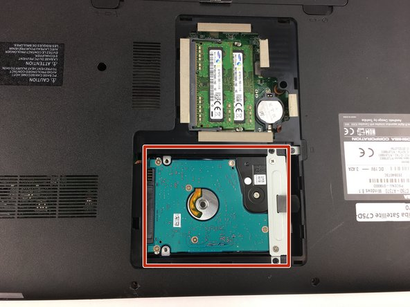 Toshiba Satellite C75D-A7370 Hard-Drive Replacement