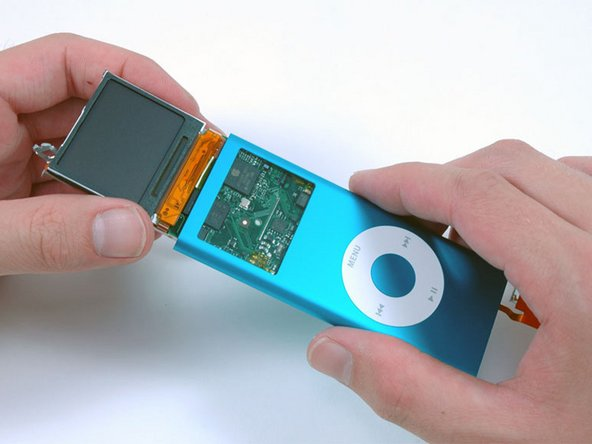 Image 1/1: Completely remove the display and logic board from the iPod.