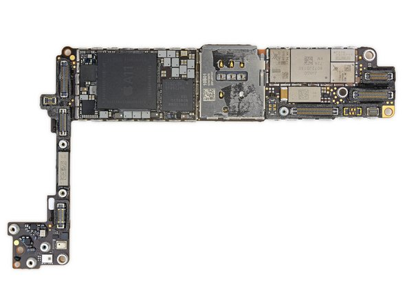 Apple 339S00434 A11 Bionic SoC、これにSK Hynix H9HKNNNBRMMUUR 2 GB LPDDR4x RAMが積層