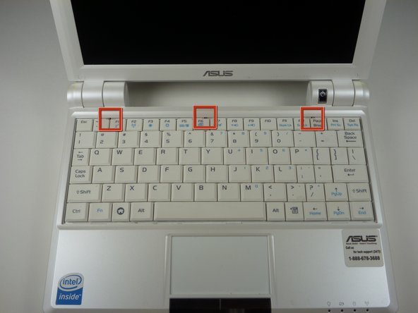 Caution Follow this step to detach the upper portion of the keyboard, but do not remove it from the laptop. Damage to the keyboard's ribbon cable may result if improperly executed.