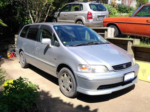 We'll be changing the oil and filter on my JDM-import 1999 Honda Odyssey with the 2.3L four-cylinder engine
