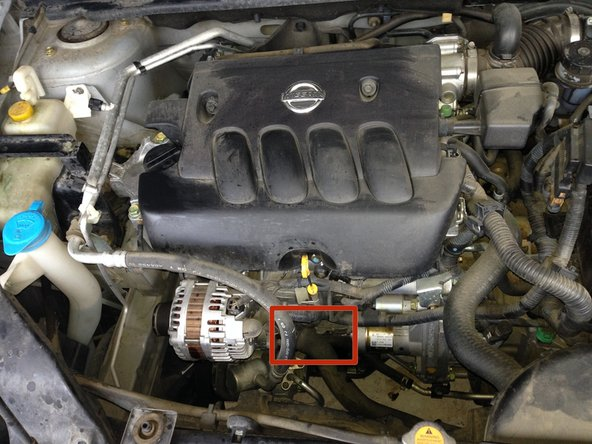 locate the oil filter from either above or below the car (the images are  from