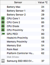 MBP high idle 50C and working temp >80C? - MacBook Pro 13
