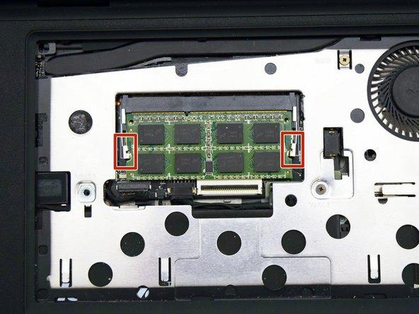 Locate the RAM module.