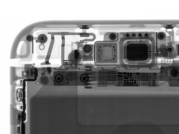 Image 3/3: A quick blast of X-rays reveals the presence of some new silicon piggybacking onto the display—[https://www.ifixit.com/Teardown/iPhone+6s+Teardown/48170#s107873|just like we found on the 6s.|new_window=true]