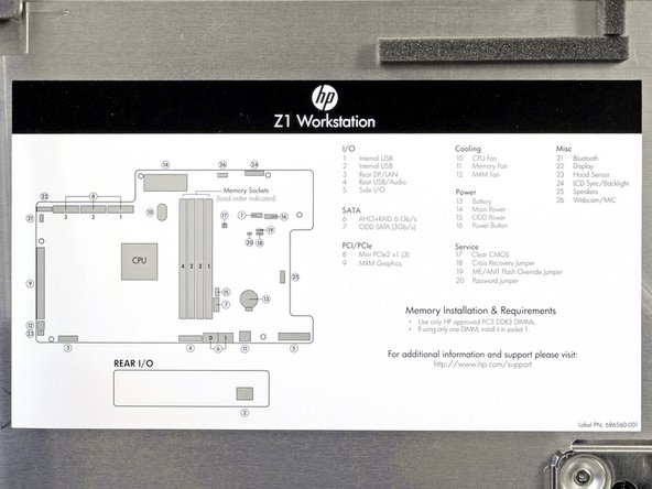 Right under the hood of the Z1 is a handy diagram of all the components that are easy to replace.