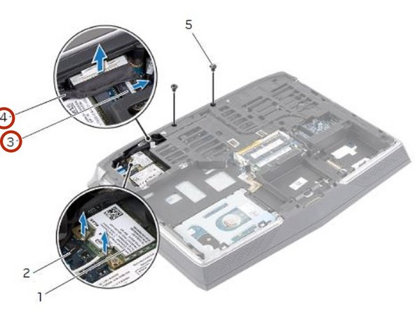 Connect the display and camera cables to the system-board connectors.